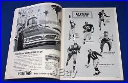 1959 PRO BOWL NFL Football program JIM BROWN JOHNNY UNITAS LOMBARD Great shape