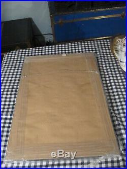 1959 SUGAR BOWL FRAMED DISPLAY LSU CLEMSON PROGRAM and TICKET SIGNED 3X CANNON