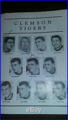 1959 SUGAR BOWL PROGRAM 1958 LSU National Champions CLEMSON Tigers SIGNED Rare
