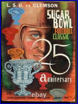 1959 Sugar Bowl Program Clemson v LSU'58 National Champs Ex 70043