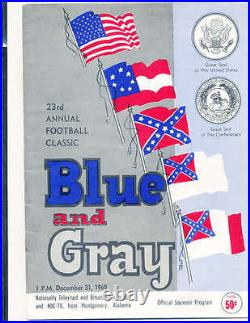 1960 Blue Gray Bowl Football Program all star classic