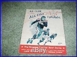 1960 Niagara Frontier College All Star Bowl Game Football Program 8/19