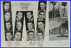 1960 Rose Bowl Signed Program UW Huskies vs UW Badgers NCAA Football Vintage