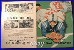 1960 Tony Conigliaro Program Manning Bowl St. Mary's Lynn High School FOOTBALL VG