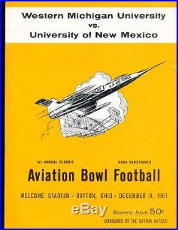 1961 12/8 Aviation bowl football program western michigan vs New Mexico