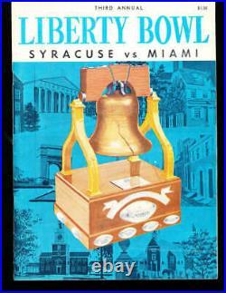 1961 Liberty Bowl Syracuse vs Miami football program Ernie Davis