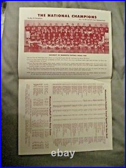 1961 MINNESOTA ROSE BOWL MEDIA GUIDE Yearbook GOPHERS 1960 NAT CHAMPS! Program