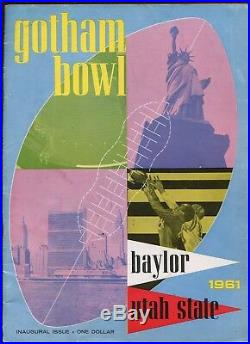1961 NCAA Football Gator Bowl Program Baylor vs Utah State VGEX