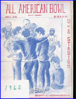 1962 All American Bowl Football Program, Tucson, AZ small & large colleges