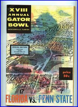1962 Gator Bowl RARE Florida Penn State Football Program vtg MAJOR UPSET