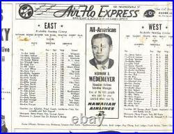 1962 Hulu Bowl football program Ernie Davis ex
