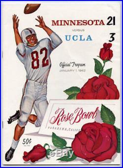 1962 Rose Bowl RARE Minnesota UCLA Football Program Golden Gophers v Bruins