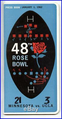 1962 Rose Bowl RARE Minnesota UCLA Media Guide VTG NCAA Football program