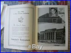 1962 SUGAR BOWL PROGRAM ALABAMA ARKANSAS College Football CRIMSON TIDE 1961 AD