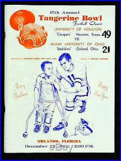 1962 Tangerine Bowl RARE Houston v Miami Ohio Football Program VTG Citrus