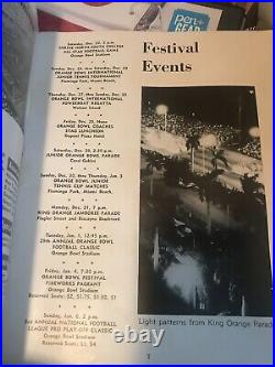 1963 29th Annual Orange Bowl Ticket Alabama Oklahoma Program