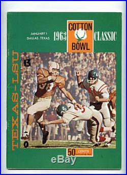 1963 Cotton Bowl RARE LSU Texas Longhorns Football Program Jerry Stovall