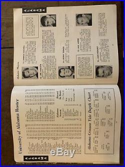 1963 Orange Bowl Oklahoma vs Alabama Football program/JOE NAMATH/L. R. JORDAN-NRMT