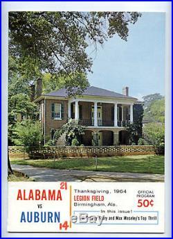 1964 Iron Bowl RARE Alabama Auburn Football Program Joe Namath Orange Year