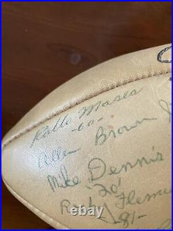 1964 Ole Miss Team signed BlueBonnet Bowl Football Alan Brown John Vaught Doc