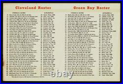 1964 Pro Play-off Classic Playoff Bowl Packers V Browns Plus Rare Roster Handout