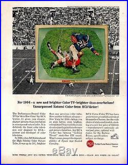 1964 Rose Bowl Football program, Washington vs. Illinois Dick Butkus withTicket, Fr