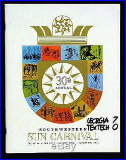 1964 Sun Bowl RARE Georgia Texas Tech Football Program Bulldogs Red Raiders