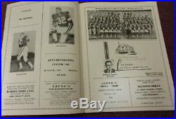 1965 Akron Rubber Bowl Program & Ticket Stub Cleveland Browns Vs Pitts. Steelers