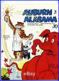 1965 Iron Bowl RARE Alabama Auburn Football Program Ken Stabler Orange Champs