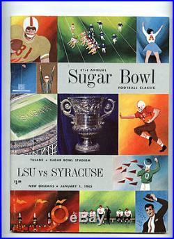 1965 Sugar Bowl RARE LSU v Syracuse Football Program Floyd Little Rookie