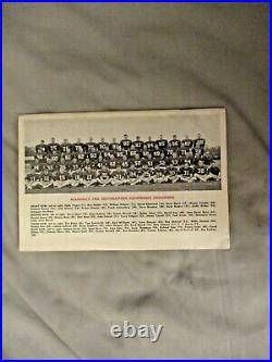 1966 ALABAMA CRIMSON TIDE FOOTBALL MEDIA GUIDE ORANGE BOWL Program 1965 CHAMPS