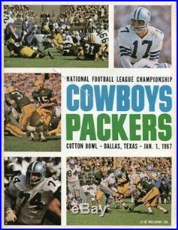 1966 NFC Championship Game Program Cowboys v Packers 1/1/67 Cotton Bowl Ex 47046