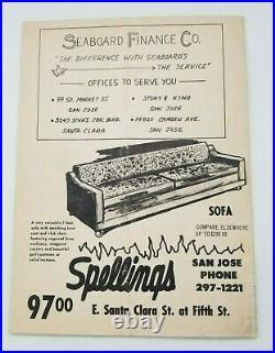 1966 Prune Bowl Football Program O. J. Simpson Last Junior College Game Rare