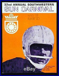 1966 Sun Bowl RARE Wyoming v Florida St Football Program FSU Ron Sellers