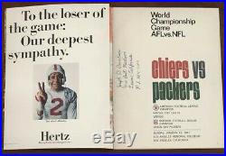 1967 AFL-NFL Championship First Super Bowl I (1) Program Packers vs. Chiefs