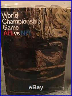 1967 AFL-NFL Championship Super Bowl 1 Program Packers vs. Chiefs