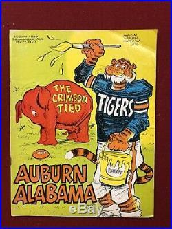 1967 Auburn vs Alabama Football Program Iron Bowl