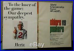 1967 FIRST Super Bowl I Game Program Green Bay Packers vs. Kansas City Chiefs
