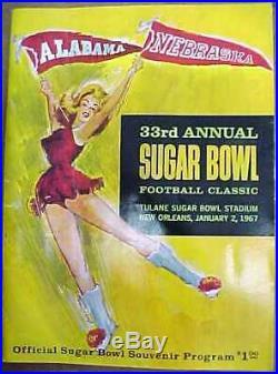 1967 NCAA SUGAR BOWL Football Program Alabama vs Nebraska