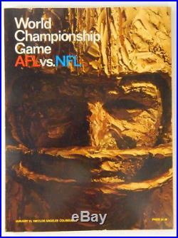 1967 NFL Championship 1st Super Bowl AFL vs NFL Program Packers vs Chiefs
