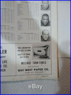 1967 NFL Championship Program Green Bay Packers vs Dallas Cowboys Ice Bowl