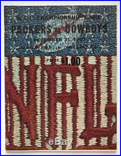 1967 NFL Championship Program Green Bay Packers vs. Dallas Cowboys The Ice Bowl