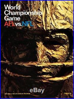 1967 Packers vs Chiefs 36 x 48 Canvas Super Bowl I Program Fanatics