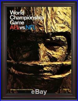 1967 Packers vs Chiefs Framed 36 x 48 Canvas Super Bowl I Program Fanatics