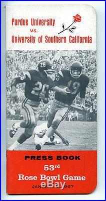 1967 Rose Bowl RARE Purdue USC Trojans Media Guide NCAA Football program