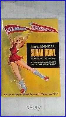 1967 SUGAR BOWL FOOTBALL CLASSIC PROGRAM ALABAMA vs NEBRASKA NRMT