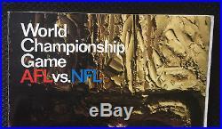 1967 Super Bowl 1 Green Bay Packers Kansas City Chiefs Football Game Program
