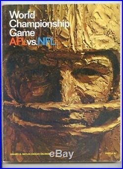 1967 Super Bowl I #1 Program Kansas City Chiefs vs Green Bay Packers EX-MT Cond