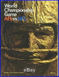 1967 Super Bowl I Game Program Green Bay Packers vs. Kansas City Chiefs