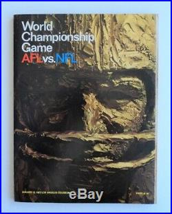 1967 Super Bowl I Program Green Bay Packers vs. Chiefs AFL-NFL Championship